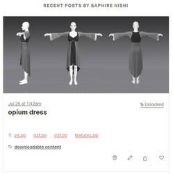 opium dress - patreon