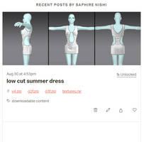 low cut summer dress - patreon