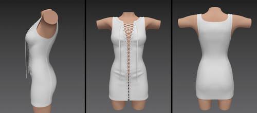 laced up dress (g3f)