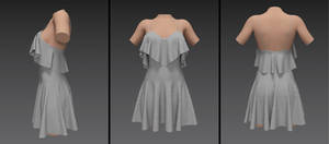 summer dress with overhang (g8f)