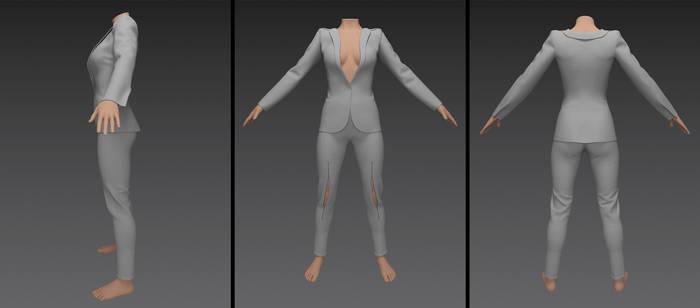 lara croft - blazer outfit (g8f)