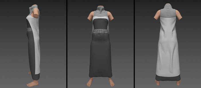 extreme low sirwal pants with cape (g8f)