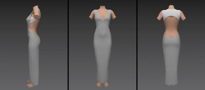 open back evening dress (g8f)