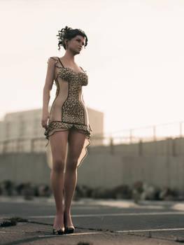 halter dress unreal