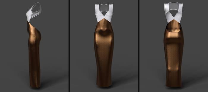 open back evening dress (g8f) (daz)