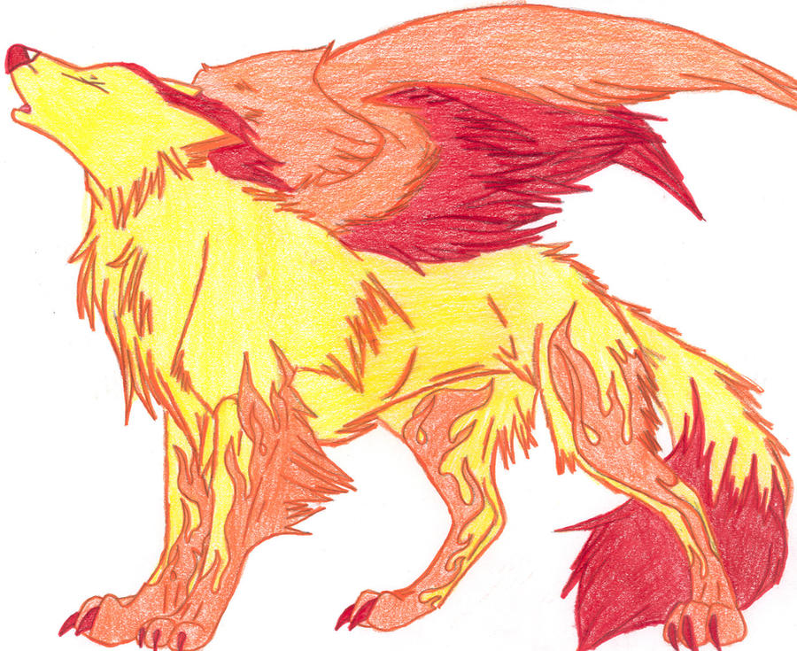 Firewolf drawings on PaigeeWorld. Pictures of firewolf