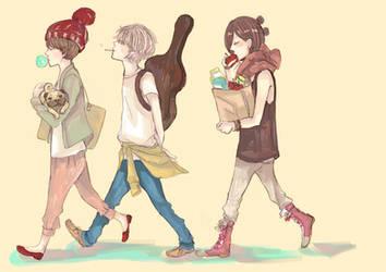 Walk by yuchunqu