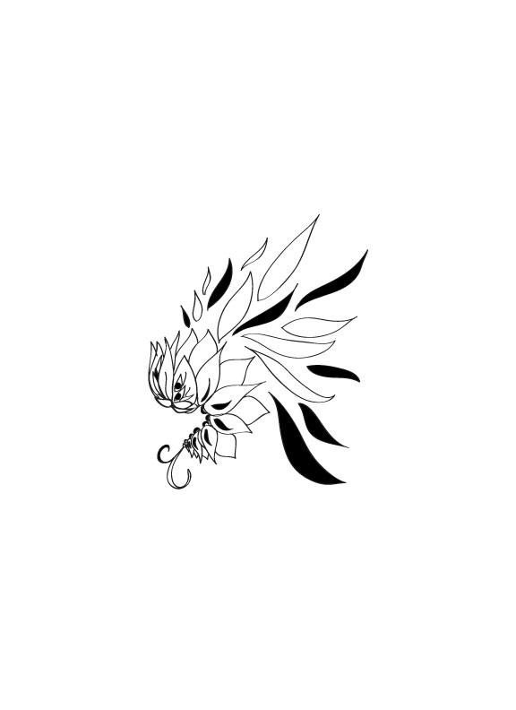 Line Work Art : Worm flower tattoo line work by tehmia on deviantart