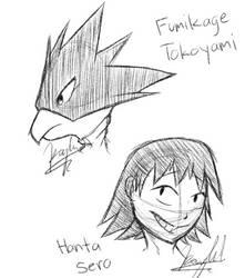 Hanta Sero and Fumikage Tokoyami