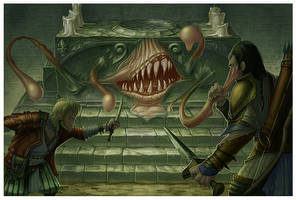 Mimic illo - Paizo Publishing by MichaelJaecks