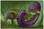 Purple Worm for Paizo