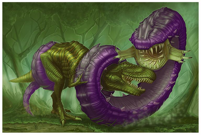 Purple Worm for Paizo by MichaelJaecks