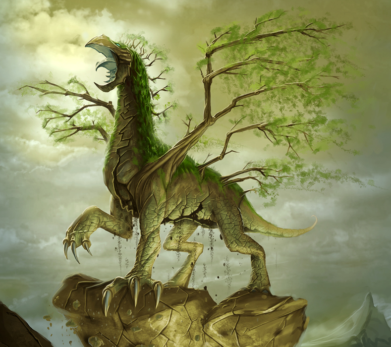 Earth Elemental Dragon by ~MichaelJaecks on deviantART ...