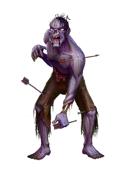 Zombie for Paizo by MichaelJaecks