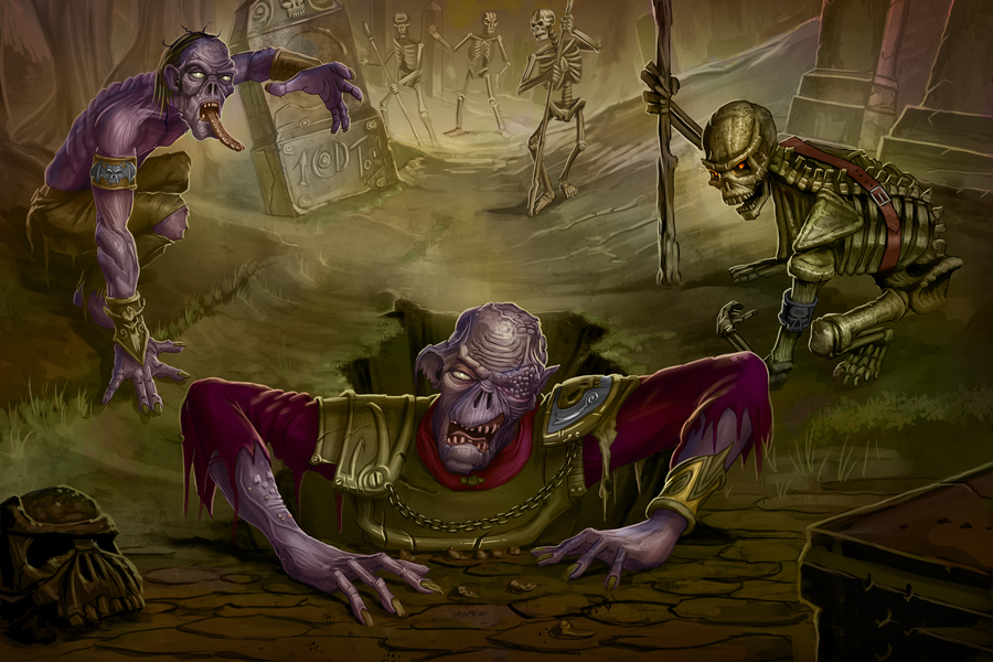 Zombies for Paizo by MichaelJaecks 45 Awesome Apocalyptic Zombie Artworks