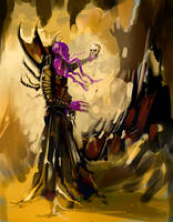 Illithid in Cave by MichaelJaecks