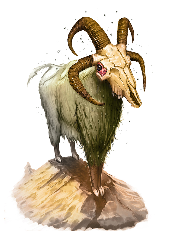 Undead Jacob Sheep by MichaelJaecks