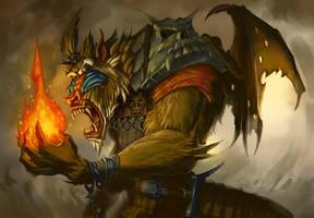 Mandrill Demon by MichaelJaecks
