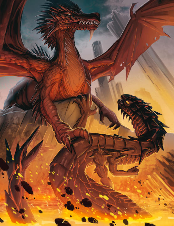 Red Dragon for Legendary Games Pathfinder by MichaelJaecks