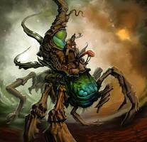 Alien Pod Bug with Rider by MichaelJaecks