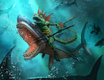 Sahaugin Shark Rider HP Wayfinder Jaecks