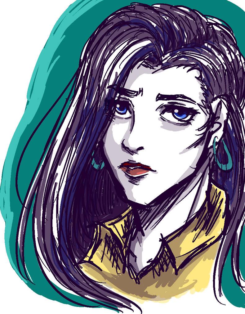 Lisa Lisa scribble by Nakaion