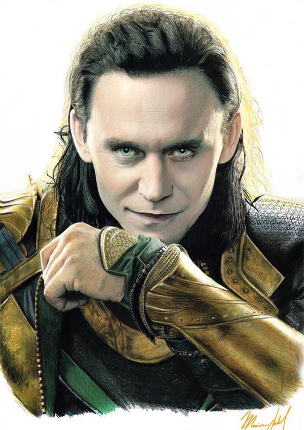 LOKI Tom Hiddleston drawing 2013 Thor by RuggiArt on ...