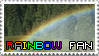 Rainbow Fan Stamp by irreplaceablemartina