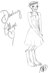 Darling Calliope Sketch by DERPPPPPPPPP