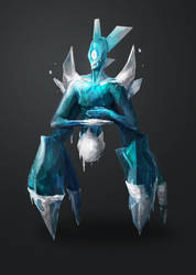 Ice elemental by Gauntletto