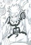 Naruto Uzumaki {Mode Chakra de Kyubi} by Mirai-Gohan