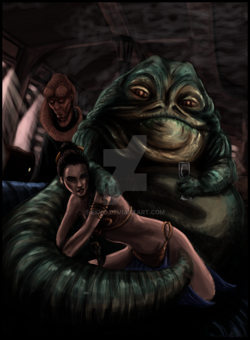 Leia et Jabba by ESVO on DeviantArt Jabba The Hutt Cosplay