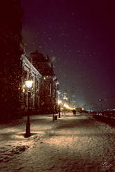 Snowfall in Dresden