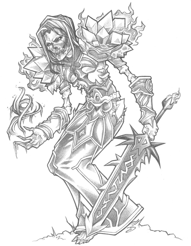Pencil Undead Mage by bluessence