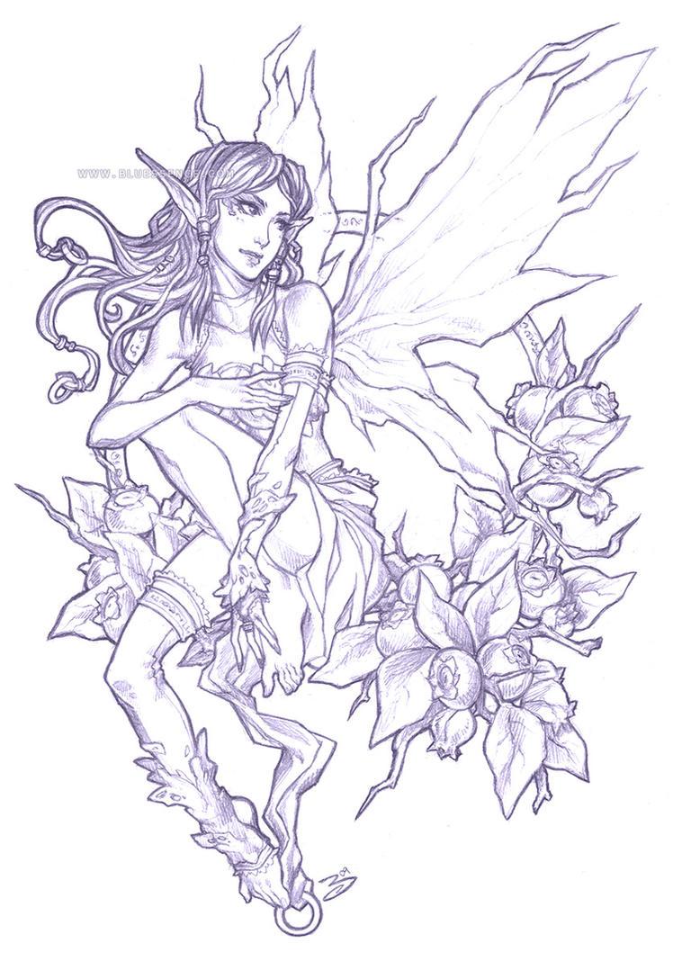 Pencil - Blueberry Fairy by bluessence on DeviantArt