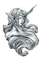 Unicorn Slumber by bluessence
