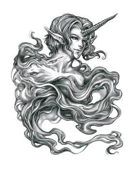 Unicorn Elemental - Pencil Drawing