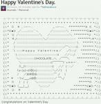 Happy Valentine's Day. ASCII art