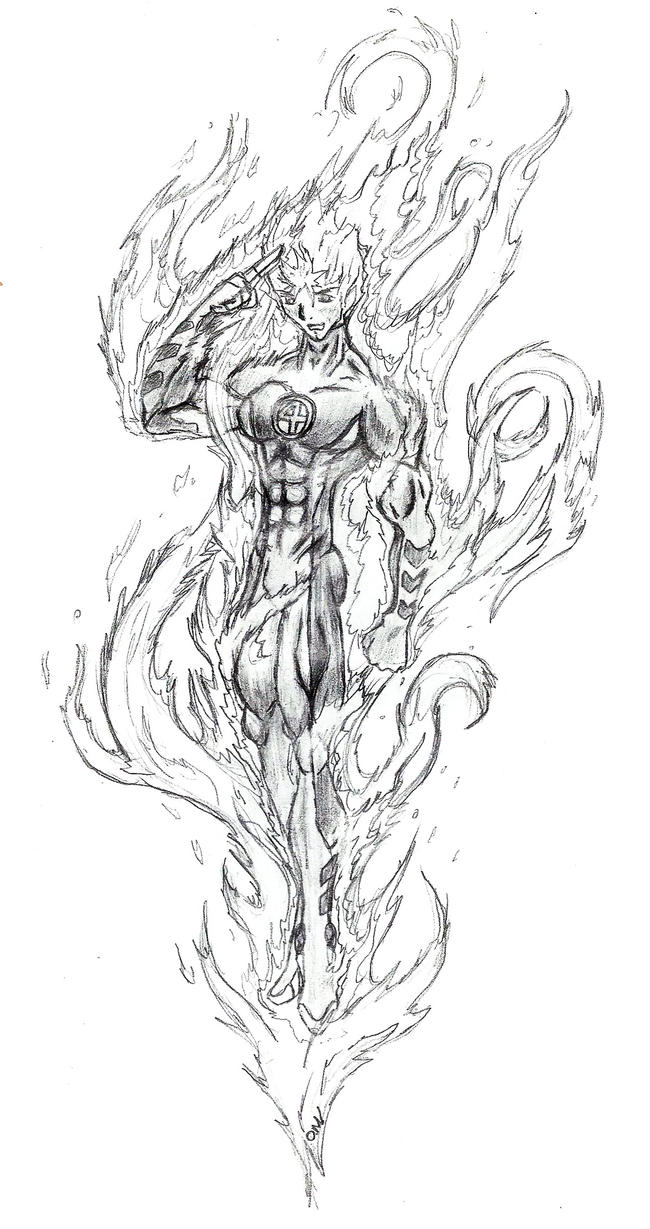 the human torch coloring pages - photo#8