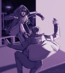Rooftop Fight by Ryuki-Chinto