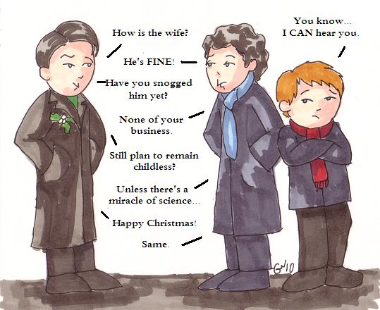 Sherlock Christmas Card By Leloi On Deviantart