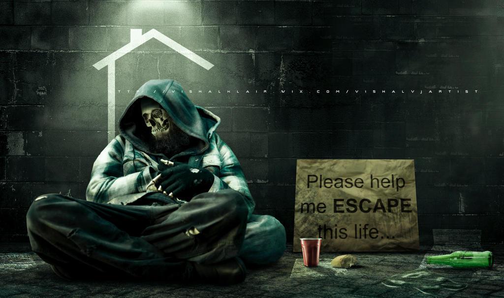 Quiet homeless sleeping by vishalvj