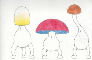 Mushroom men line-up