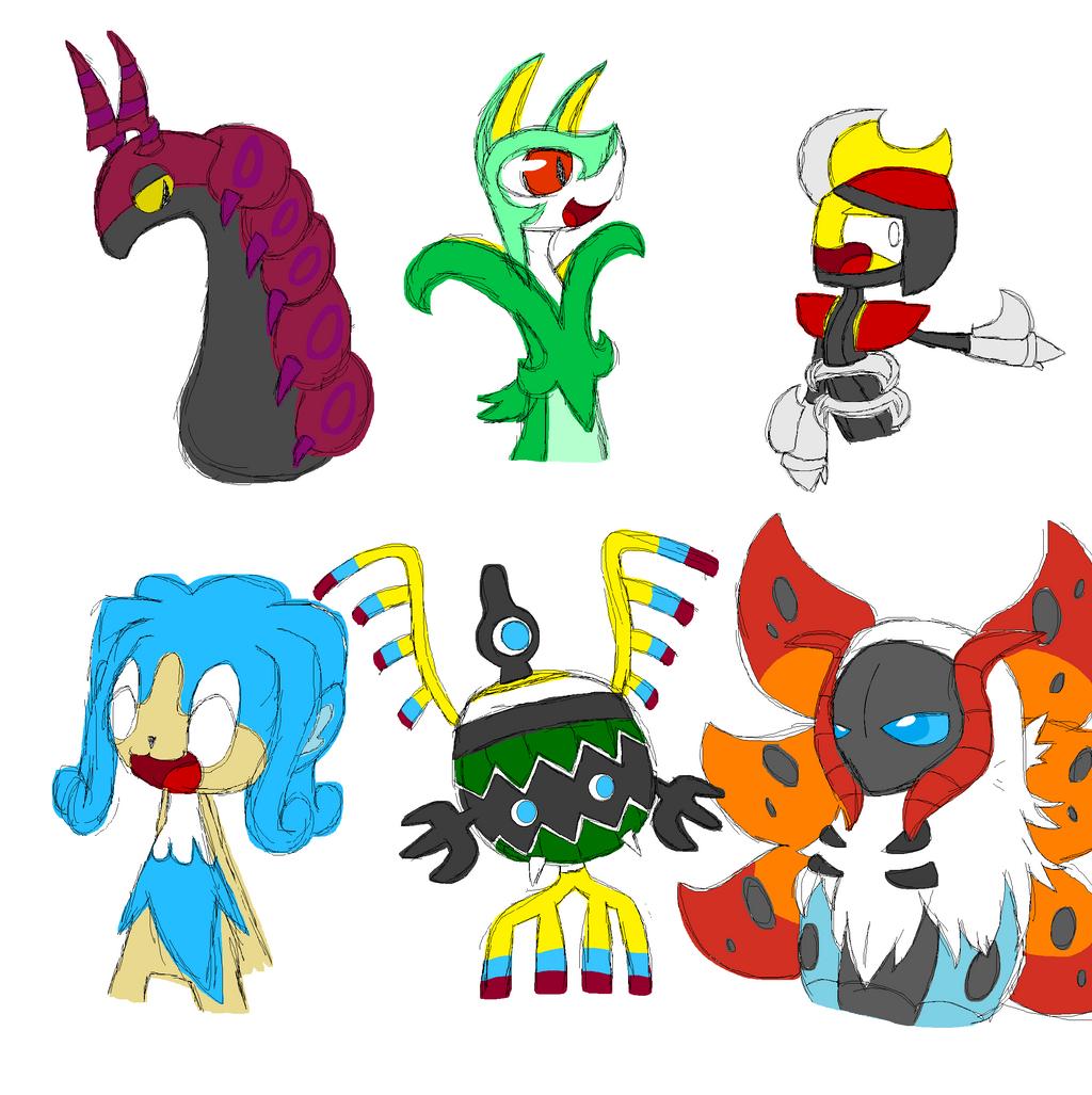 My 6 Pokemon Unova Region 440779637