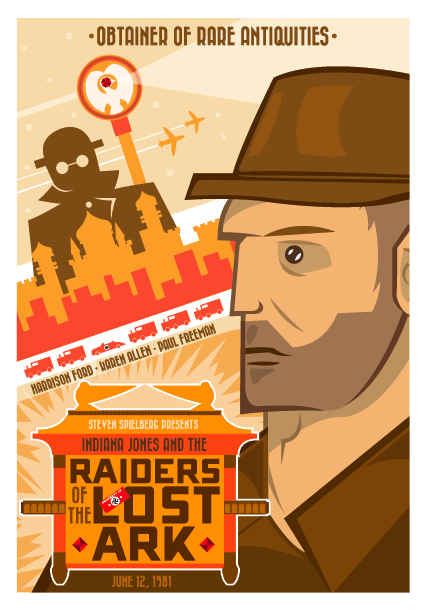 Raiders of the Lost Ark Poster by GoJoeThibaultGo
