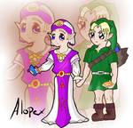 Zelda n' link in chibi form
