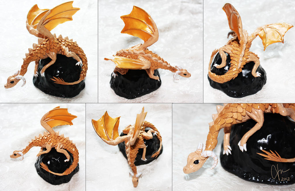 .: Golden Dragon Sculpture :. by tanya1