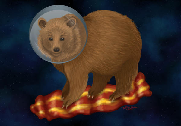 .: Space Bacon Bear :. by tanya1