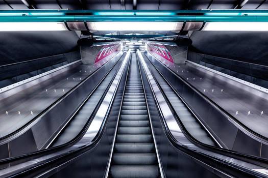 Prague Metro Escalators