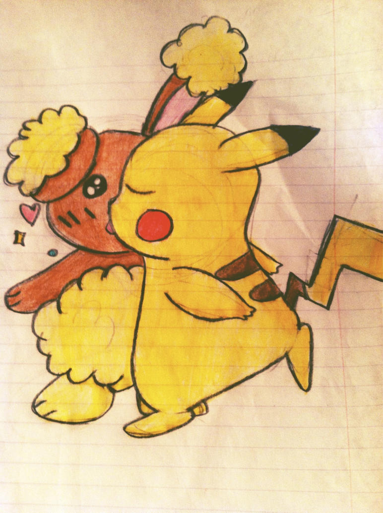 pikachu and buneary by st8remaster on deviantart